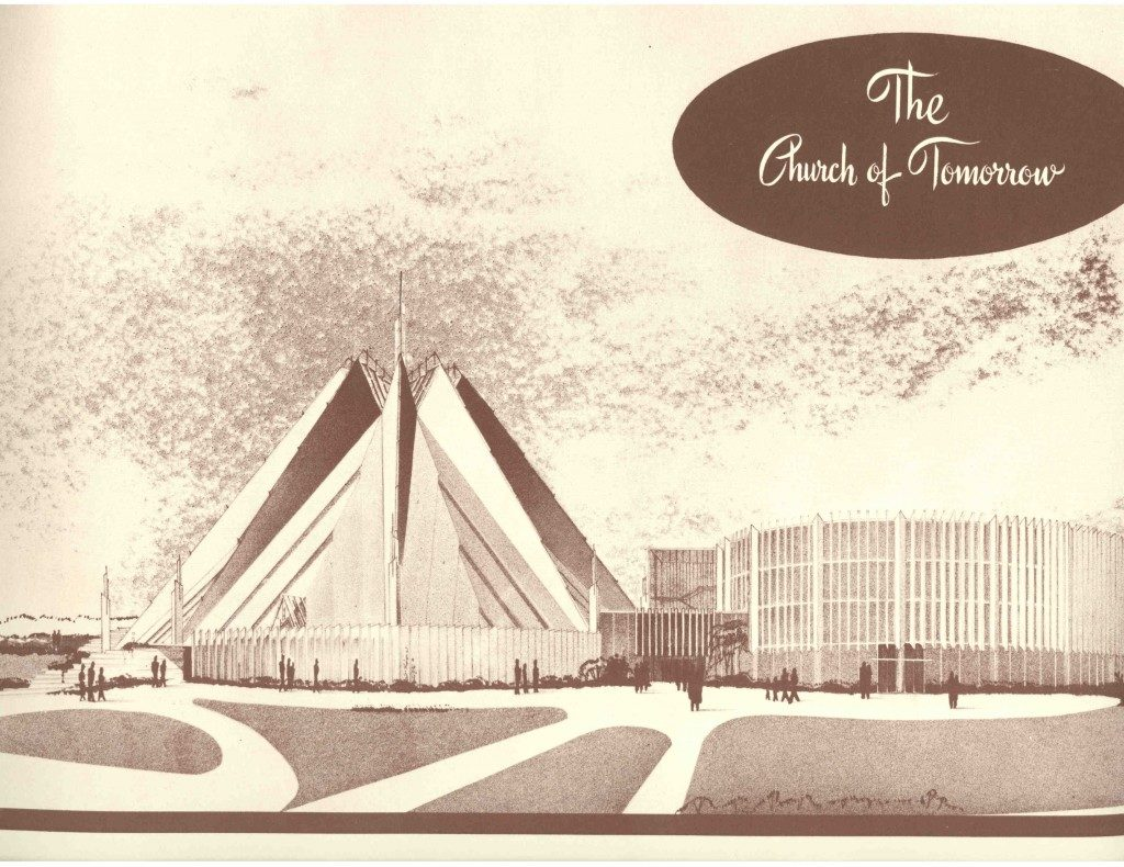 The second, much grander design for First Chrisitian Church, 1953.