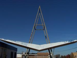 Champlin Gas Station awning NE 50th and MLK OKC