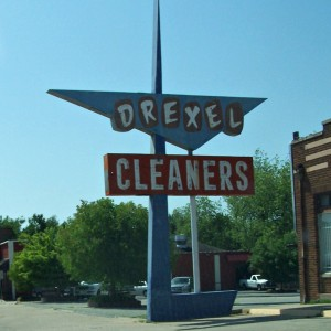 drexel cleaners sign then
