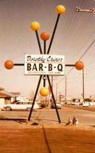 Mac's signs - Dorothy Criner bbq sign