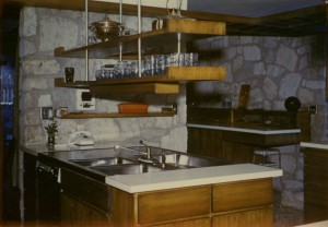 Carter House - found photo - kitchen El Reno