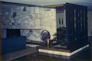 Carter House - found photo - fireplace El Reno