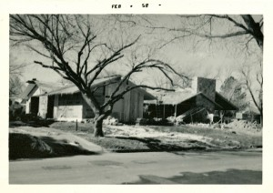 Carter House - found photo - under construction El Reno
