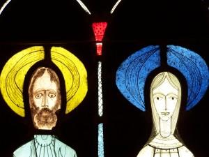 st. luke's stained glass jesus