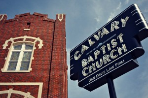 calvary baptist church - sign