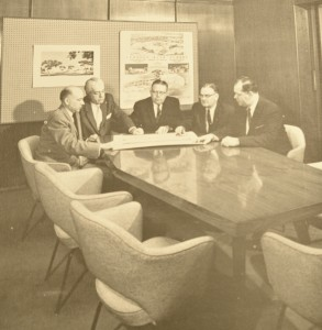 htb members around conference table 1950s