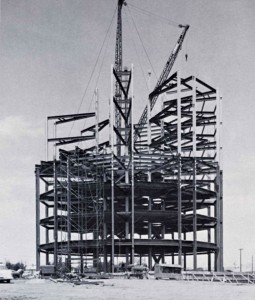 Founders tower under construction 1963