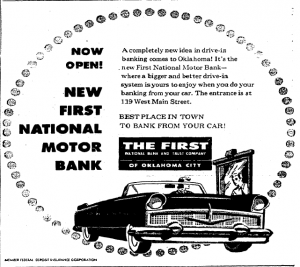first national motor bank 1956