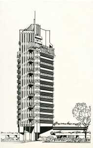 price tower book - dedication booklet - rendering drawing postcard - view 8
