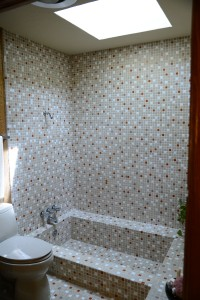 Bethany hillside house bathroom tile
