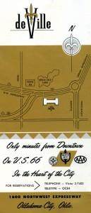deville motel map brochure