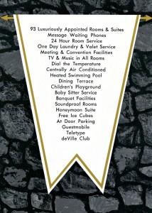 deville motel amenities brochure