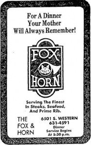 fox and horn ad 1977