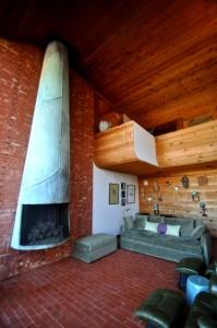 cunningham house herb greene living room fireplace