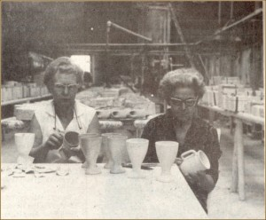Doris Poe and Mary Hladik hard at work in the 1960s.  (Cherokee Strip Museum)