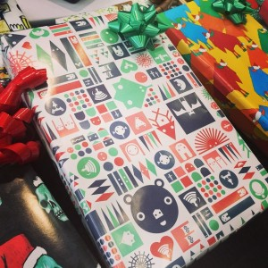 xmas xxx matt goad wrapping paper