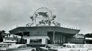 herman's building sign vintage photo