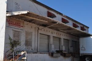 warehouse building downtown park demolished