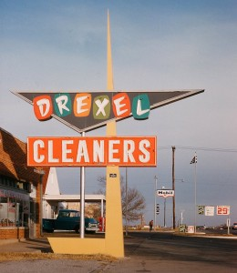 mac teague - drexel cleaners sign