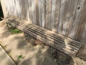 overholser house slat bench