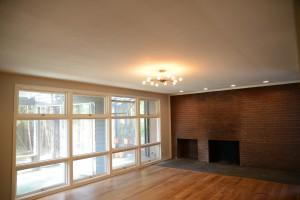 Jack Byrd House fireplace living