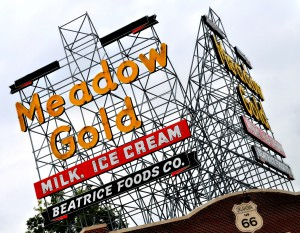 meadow gold sign tulsa 2009