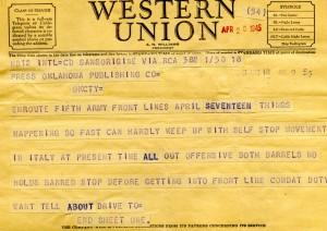 Bill Alexander - war correspondent - italy April 1945 - 1