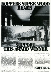 Sorey House - AR - 1968 ad koppers beams