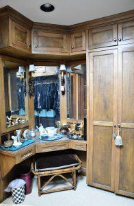 Debbie Ellis master closet hers vanity