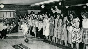 bowling alley first christian church 1940s