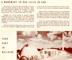 first christian church fundraising brochure 1