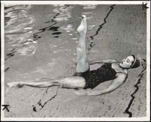 synchronized swimming ymca pool 1954