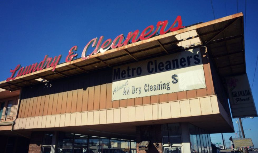 nuway cleaners may sign typography