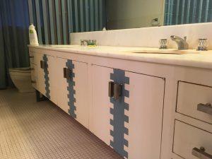 vollendorf house mwc master bathroom tile shower sinks detail
