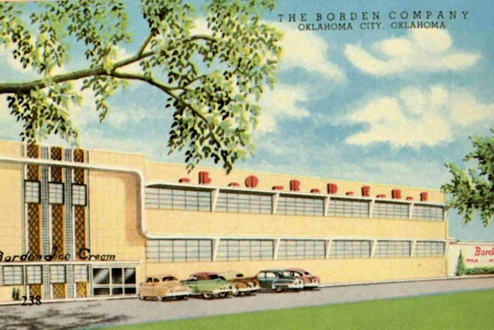 bordens vintage postcard