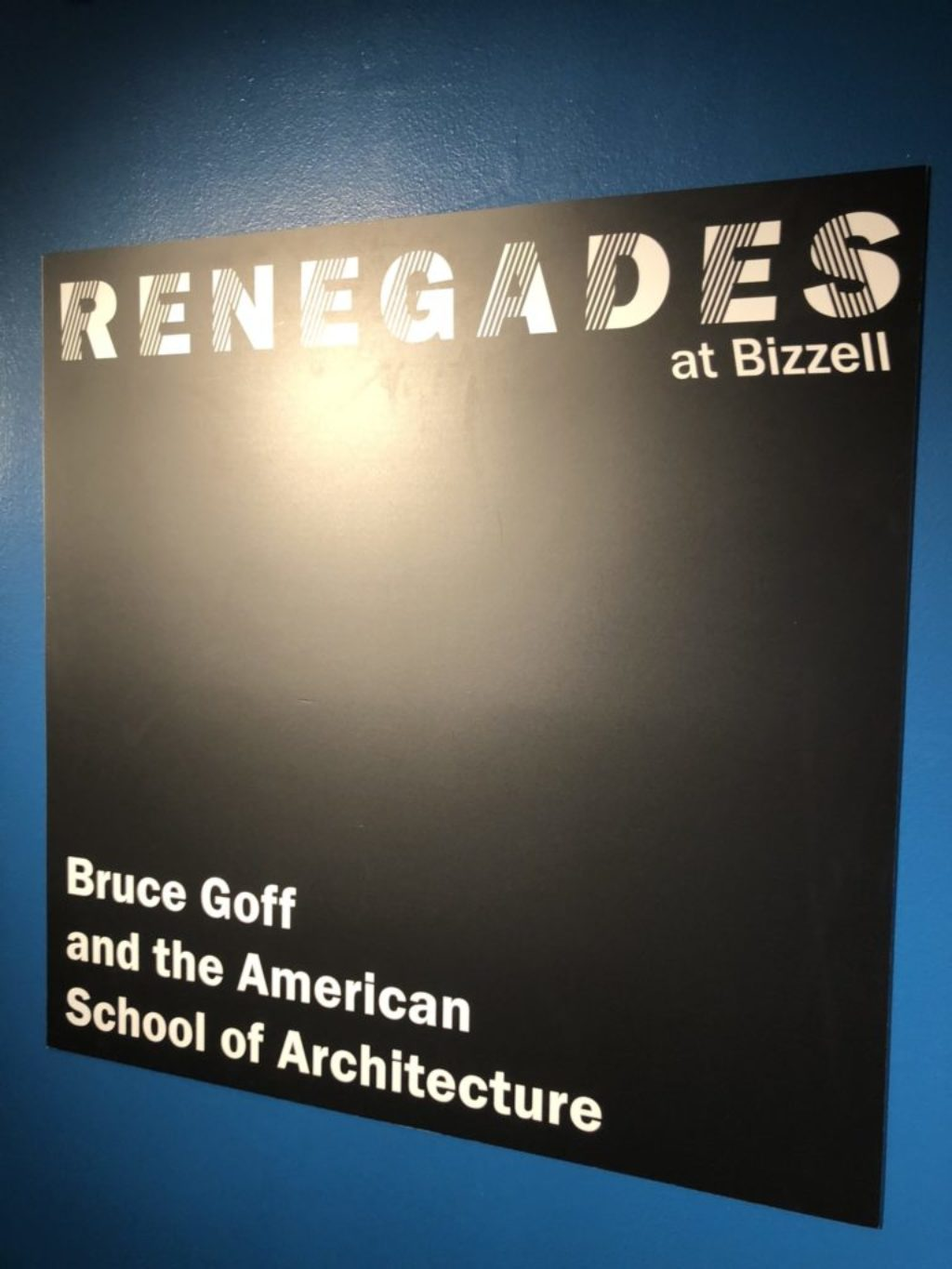 bruce goff american school exhibit bizzell library 2018-2019