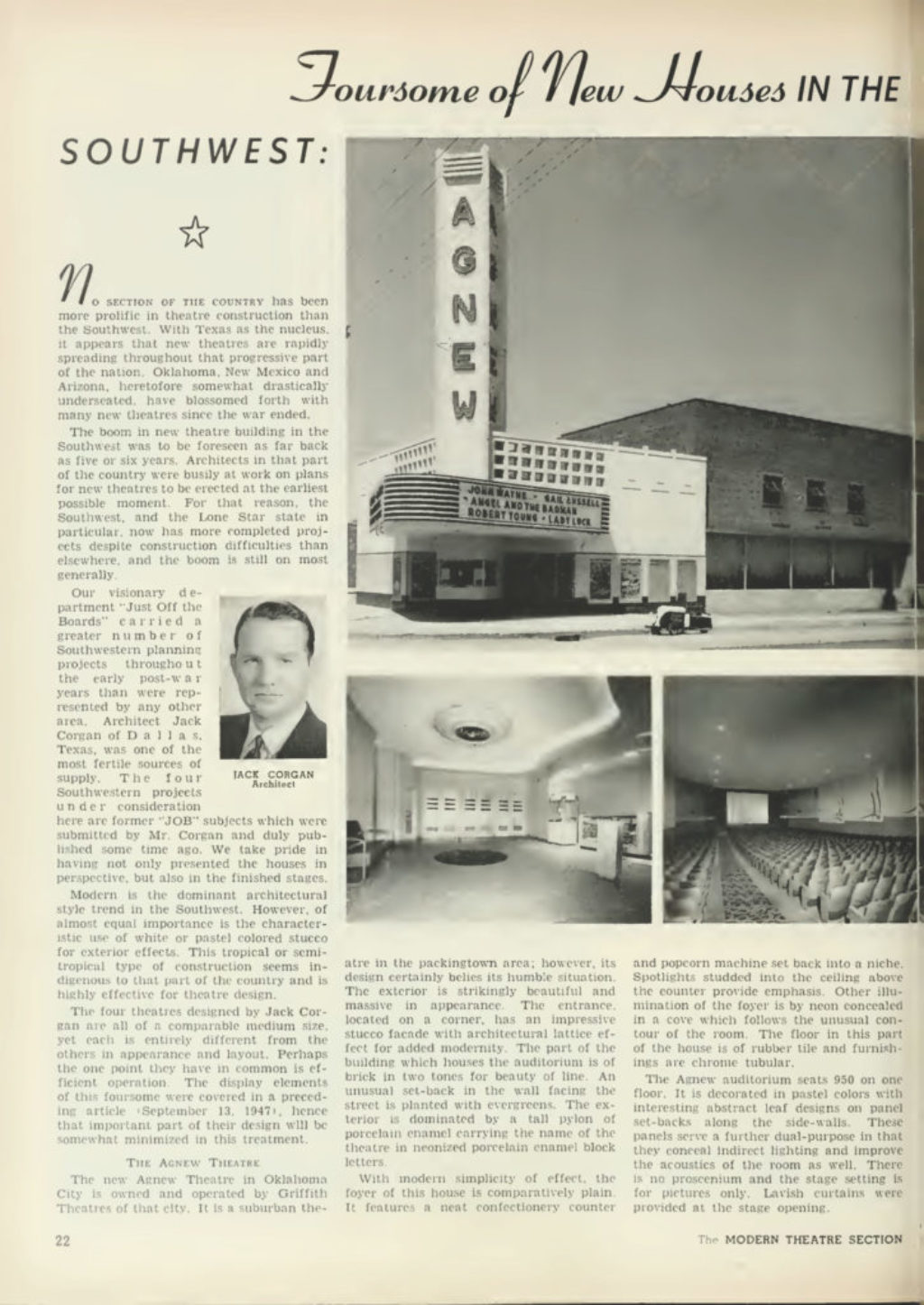 Boxoffice Magazine Presents Three Metro Theaters by Jack Corgan