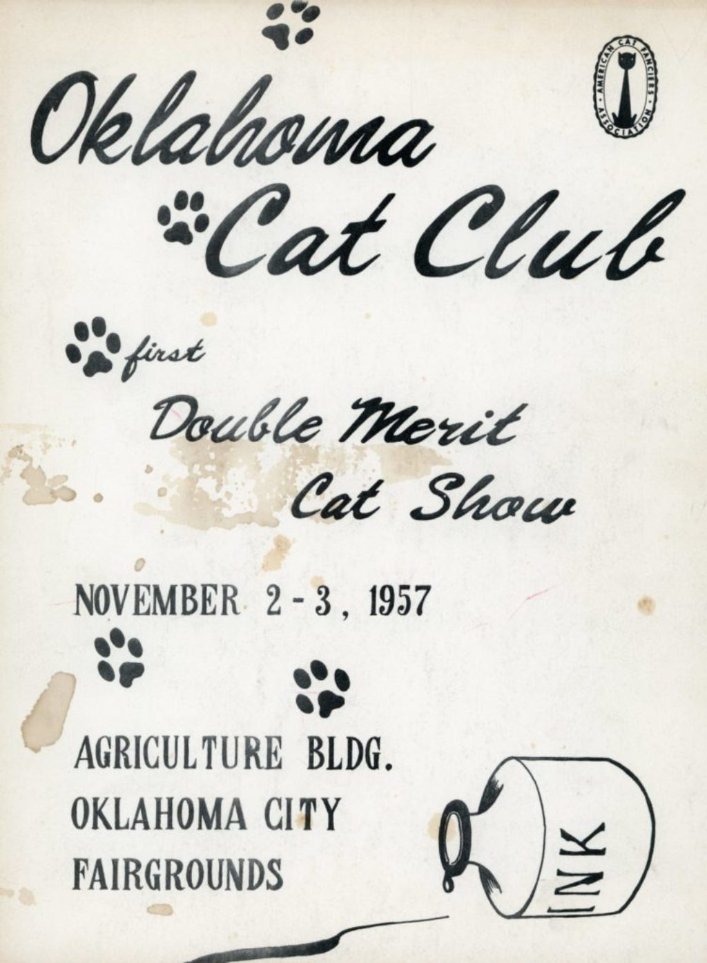 The Oklahoma Cat Club Double Merit Show of 1957